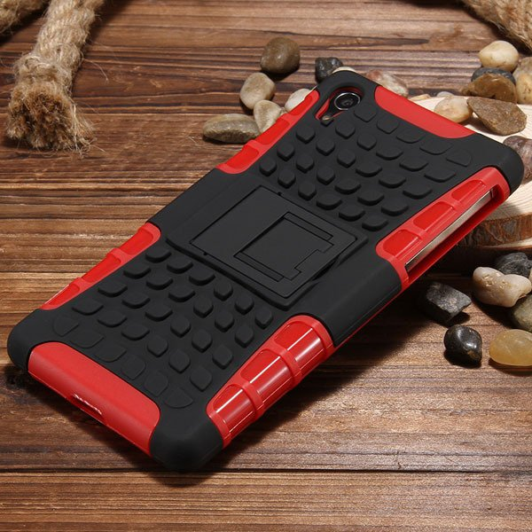 Z2 Armor Case Heavy Duty Back Cover For Sony Xperia Z2 L50W D6503  32274455562-6-red