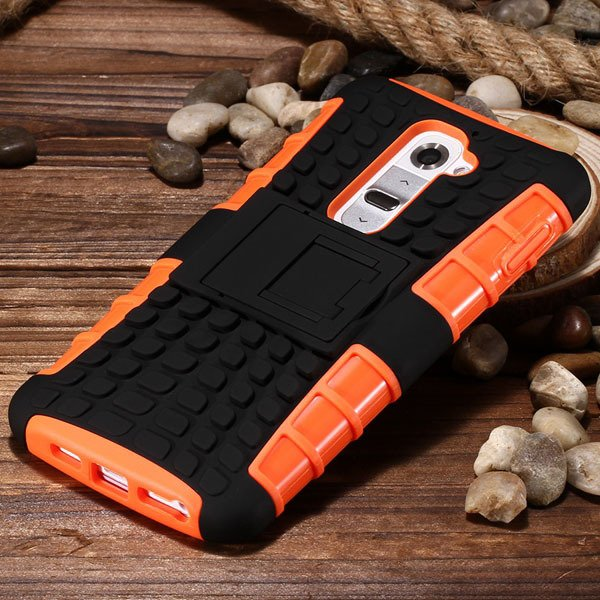 G2 Heavy Duty Armor Case For Lg Optimus G2 D802 D801 Hybrid Back C 32273825574-4-orange