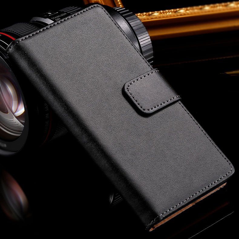 Z3 Genuine Leather Case For Sony-Ericsson Xperia Z3 D6603 D6643 Lu 32276680490-1-black