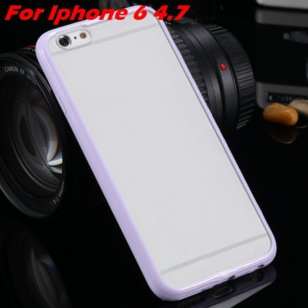 New Arrival Slim Colorful Tpu Clear Case For Iphone 6 4.7'' Phone  2018245815-5-purple For Iphone 6
