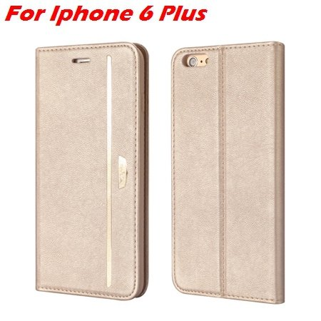 Luxury Fashion High Quality Leather Case For Iphone 6 Flip Case St 2055637345-3-Gold For I6 Plus