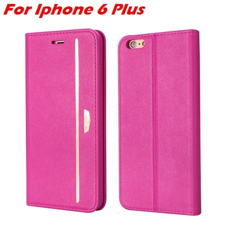 Luxury Fashion High Quality Leather Case For Iphone 6 Flip Case St 2055637345-4-Hot Pink For I6 Plus