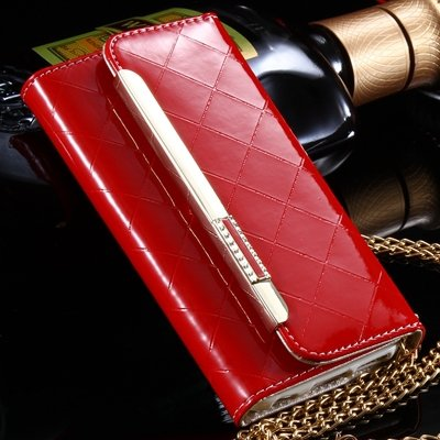 "Luxury Bling Crystal Diamond Pu Leather Case For Iphone 6 4.7"""" Fli 32256612559-4-Red"