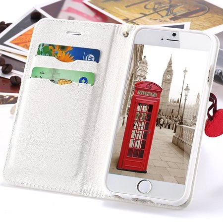 Newest Girl'S Cute Cherry Leather Phone Cases For Iphone 6 Case St 2054232220-2-White