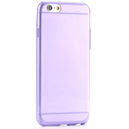 Pure Simple Flexible Transparent Soft Tpu Case For Iphone 6 4.7Inc 2039047120-10-Purple