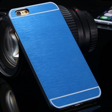 Luxury Brushed Metal Case For Iphone 6 4.7Inch Hard Phone Cases Sl 32226321434-4-Blue