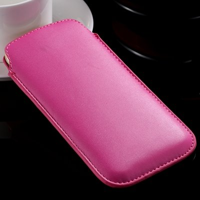 For Iphone 6 Leather Bag Pouch Luxury Full Protective Leather Case 32265670052-7-Hot Pink