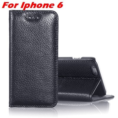 For Iphone 6 Plus Leather Case Luxury Lychee Pattern Pu Leather Ca 32259329563-1-Black For Iphone 6