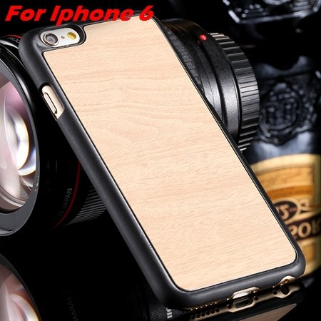 """Luxury Retro Wood Grain Hard Case For Iphone 6 4.7"""""""" Deluxe Fashion 32253933772-6-Rice White For I6"""