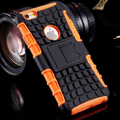 For Iphone6 Hard Case Anit-Slip 2 Parts Combo Capa Armor Case For  32294466026-3-Orange