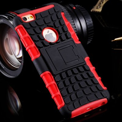 For Iphone6 Hard Case Anit-Slip 2 Parts Combo Capa Armor Case For  32294466026-4-Red