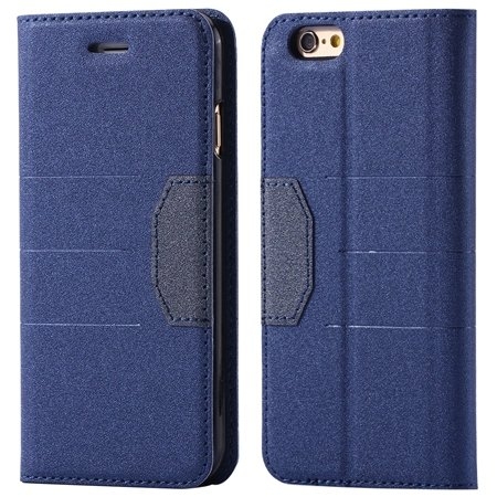 """Gold Retro Luxury Cool Pu Leather Case For Iphone 6 4.7"""""""" Flip Phon 32256236913-1-Blue"""