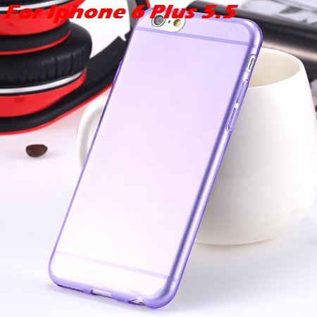 """High Quality Soft Back Cover Shell For Iphone6 4.7"""""""" Ultra Light Cl 32222098041-20-Purple For I6 Plu"""