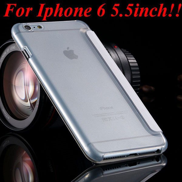 I6 Window View Case For Iphone 6 4.7Inch/5.5Inch Plus Full Wallet  32232345815-10-white for plus