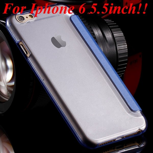 I6 Window View Case For Iphone 6 4.7Inch/5.5Inch Plus Full Wallet  32232345815-12-sky blue for plus