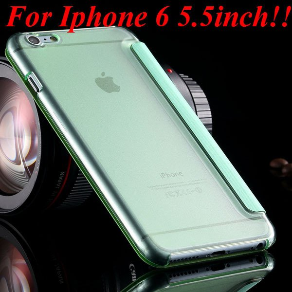 I6 Window View Case For Iphone 6 4.7Inch/5.5Inch Plus Full Wallet  32232345815-14-green for plus