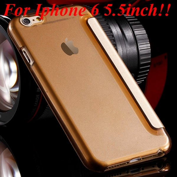 I6 Window View Case For Iphone 6 4.7Inch/5.5Inch Plus Full Wallet  32232345815-16-gold for plus
