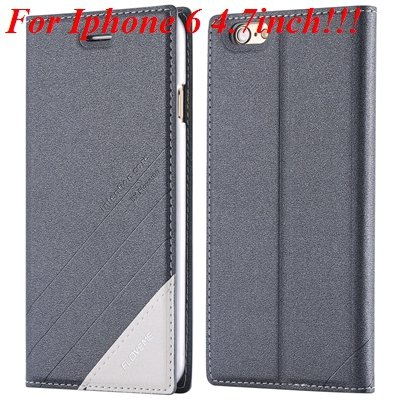 I6/6 Plus Magnetic Flip Wallet Case Original Brand Pu Leather Cove 32229188925-6-gray for iphone 6