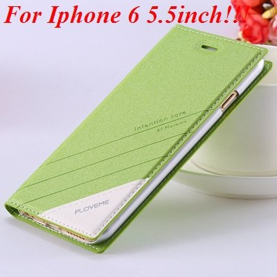 I6/6 Plus Magnetic Flip Wallet Case Original Brand Pu Leather Cove 32229188925-10-green for plus