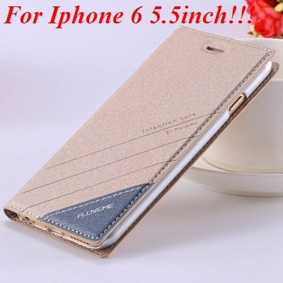 I6/6 Plus Magnetic Flip Wallet Case Original Brand Pu Leather Cove 32229188925-11-gold for plus