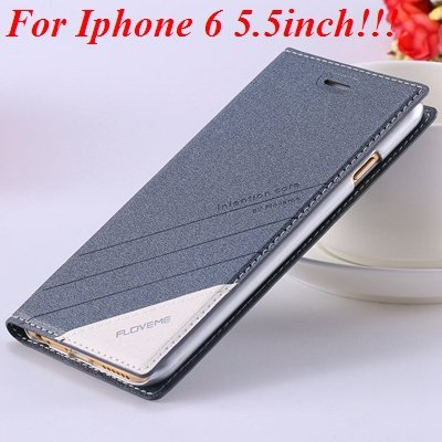 I6/6 Plus Magnetic Flip Wallet Case Original Brand Pu Leather Cove 32229188925-12-gray for plus
