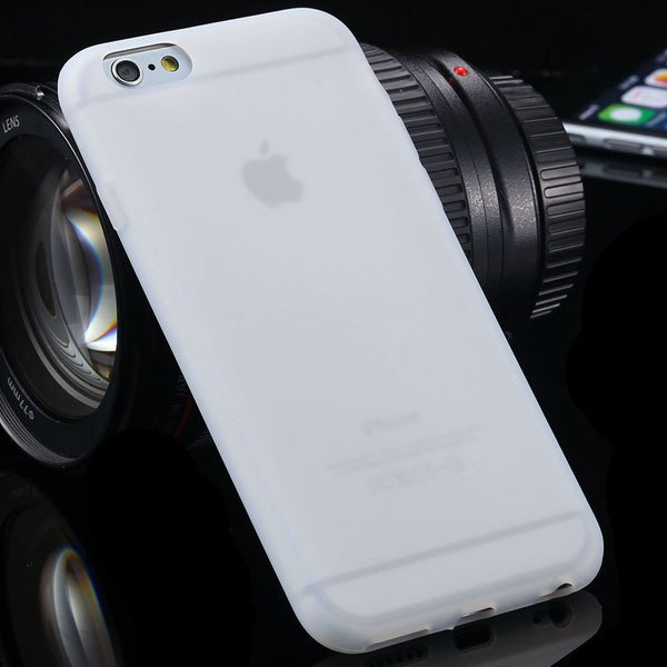 Ultra Thin Soft Silicone Cover For Iphone 6 4.7Inch Back Phone Hou 2053591358-5-white