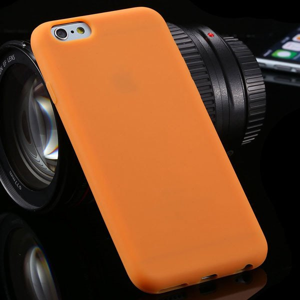 Ultra Thin Soft Silicone Cover For Iphone 6 4.7Inch Back Phone Hou 2053591358-9-orange