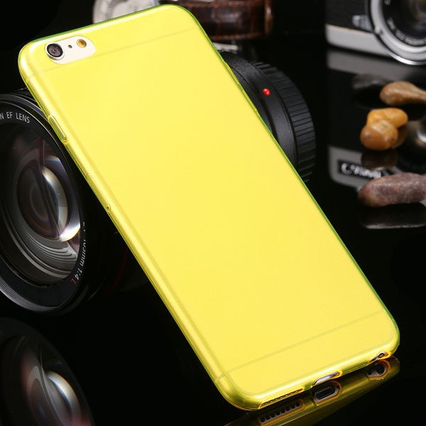 Newest 0.3Mm Ultra Thin Soft Tpu Clear Case For Iphone 6 Plus 5.5' 2021451886-1-yellow