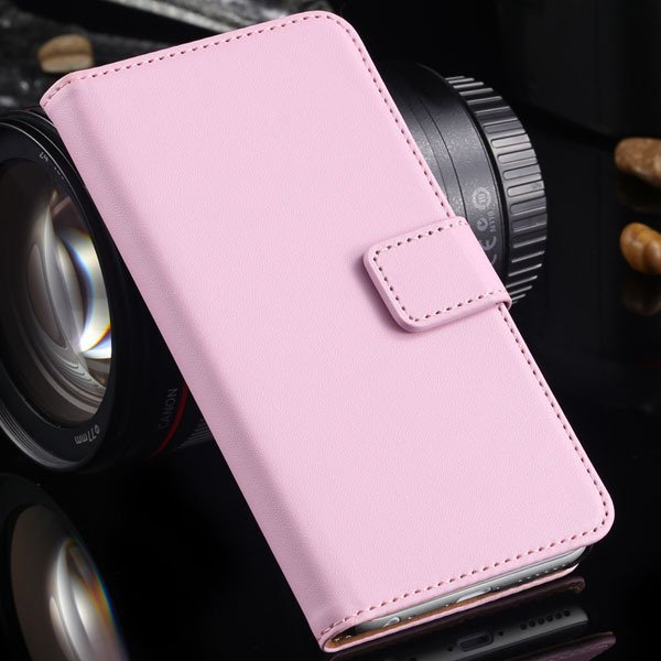 Advancest Genuine Leather Cover For Iphone 6, 4.7'' Case Flip Open 2012272802-3-pink