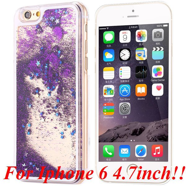 I6/6+ Glitter Quicksand Clear Case For Iphone 6 4.7Inch/5.5Inch Pl 32277057350-2-purple for iphone 6
