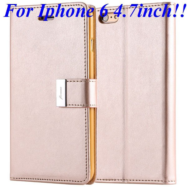 I6/6 Plus Luxury Original Brand Case Pu Leather Cover With Card Ba 32275986058-3-gold for iphone 6