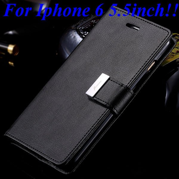 I6/6 Plus Luxury Original Brand Case Pu Leather Cover With Card Ba 32275986058-7-black for plus