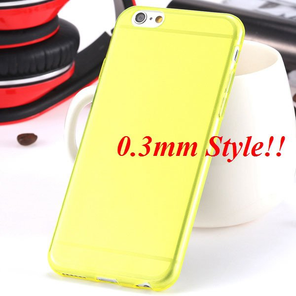Latest Flexible Soft High Transparent Case For Iphone 6 4.7'' Clea 2042995313-3-Thin yellow