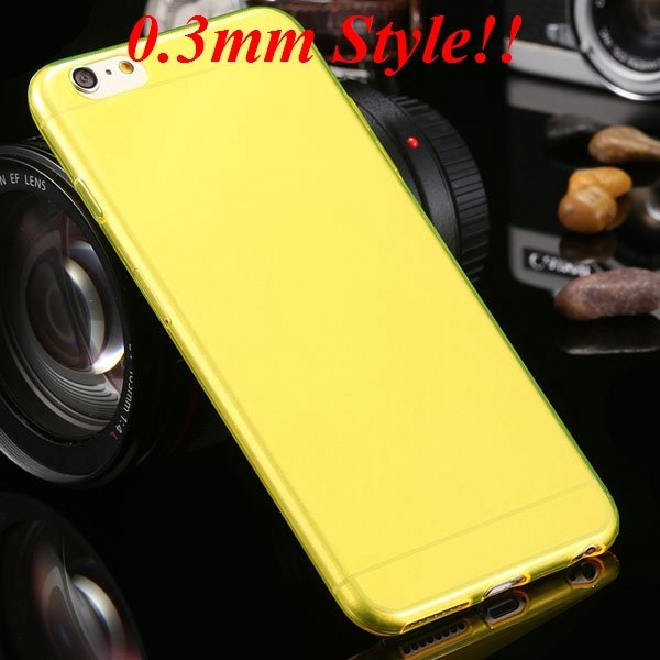 Super Thin Flexible Clear Soft Back Cover For Iphone 6 Plus 5.5Inc 32236998642-2-Thin yellow