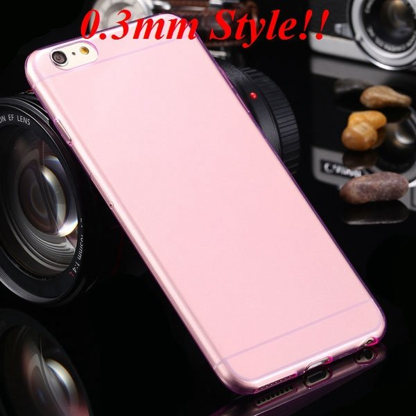 Super Thin Flexible Clear Soft Back Cover For Iphone 6 Plus 5.5Inc 32236998642-6-Thin pink