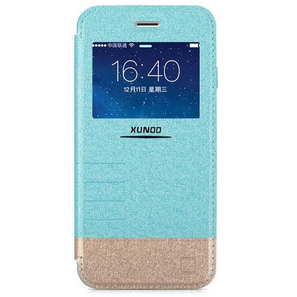 I6 Flip Pu Leather Window Cover For Iphone 6 4.7Inch Cell Phone Ca 32216246716-3-blue