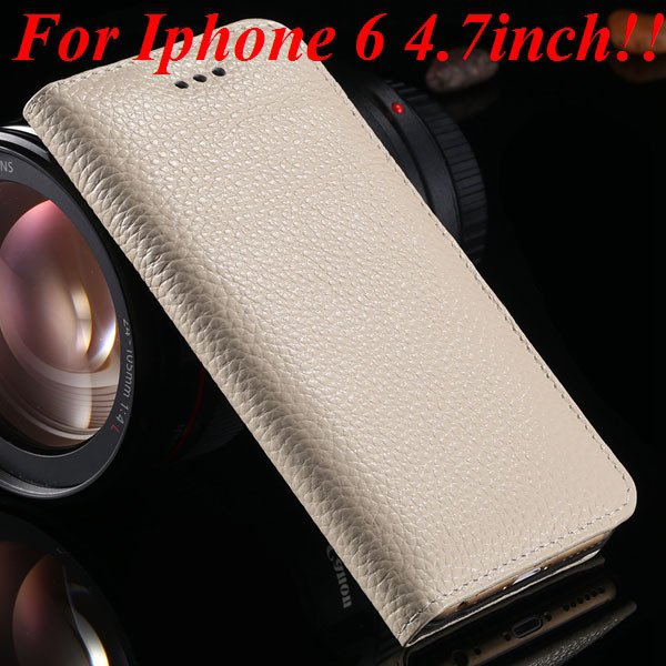 I6/6Plus Genuine Leather Case For Iphone 6 4.7Inch Full Protect Co 32236491521-14-beige for iphone 6