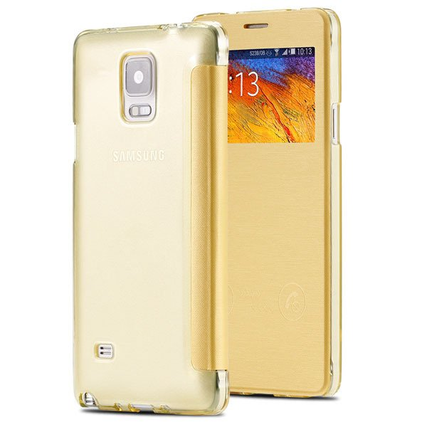 For Note 4 Smart Window Display View Case For Samsung Galaxy Note  32236551279-6-yellow