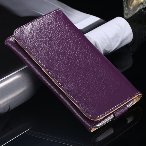 Multifunction Litchi Grain Case For Samsung Galaxy S5 S4 S3 For Ip 1869037687-4-purple