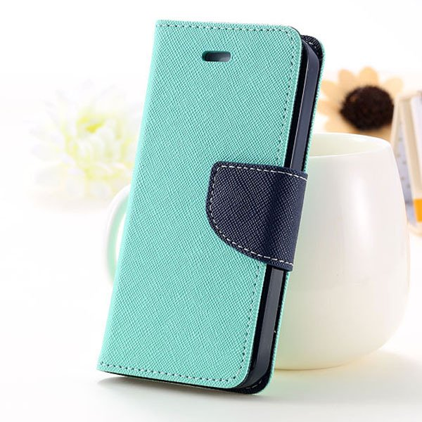 5C Case Wallet Book Style Full Case For Iphone 5C Colorful Flip Pu 1774245439-7-mint green