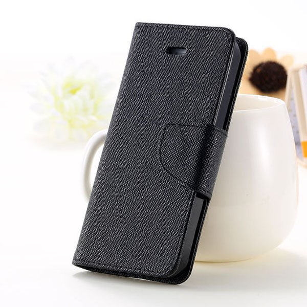 5C Case Wallet Book Style Full Case For Iphone 5C Colorful Flip Pu 1774245439-9-all black