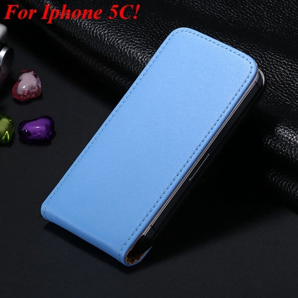 5C Genuine Leather Case Flip Cover For Iphone 5C Vertical Mobile P 1855464865-2-blue for 5C