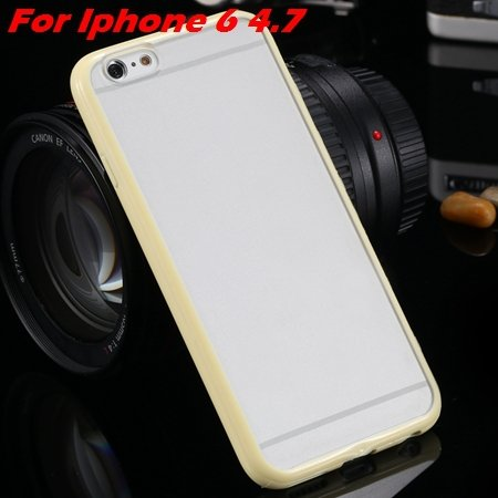 New Arrival Slim Colorful Tpu Clear Case For Iphone 6 4.7'' Phone  2018245815-4-yellow For Iphone 6
