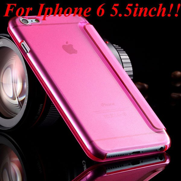 I6 Window View Case For Iphone 6 4.7Inch/5.5Inch Plus Full Wallet  32232345815-11-pink for plus