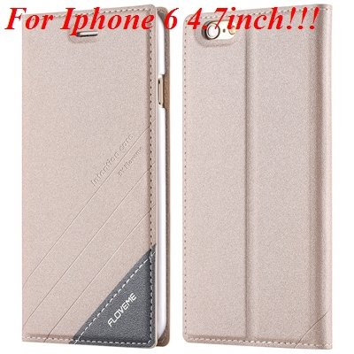 I6/6 Plus Magnetic Flip Wallet Case Original Brand Pu Leather Cove 32229188925-5-gold for iphone 6