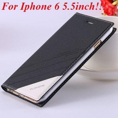 I6/6 Plus Magnetic Flip Wallet Case Original Brand Pu Leather Cove 32229188925-7-black for plus