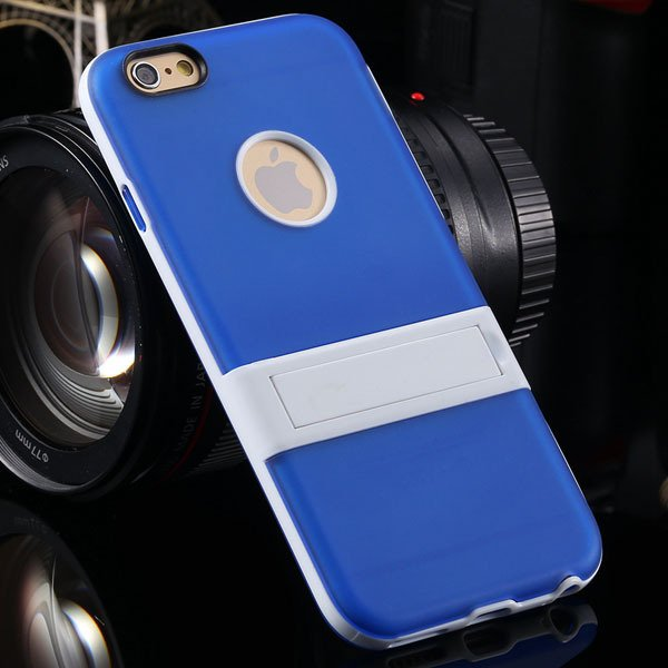 Amazing Triangle Bracket Case For Iphone 6 4.7'' Back Phone Shell  2046192931-5-blue