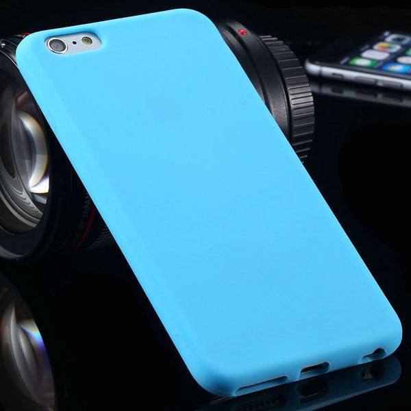 Ultra Soft Silicone Cover For Iphone 6 Plus 5.5Inch Back Phone Cas 2053450499-3-sky blue