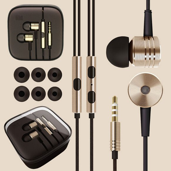 New 1Pcs Top Quality Metal Piston Earphones Headphones Headset Wit 1911714937-1-Gold