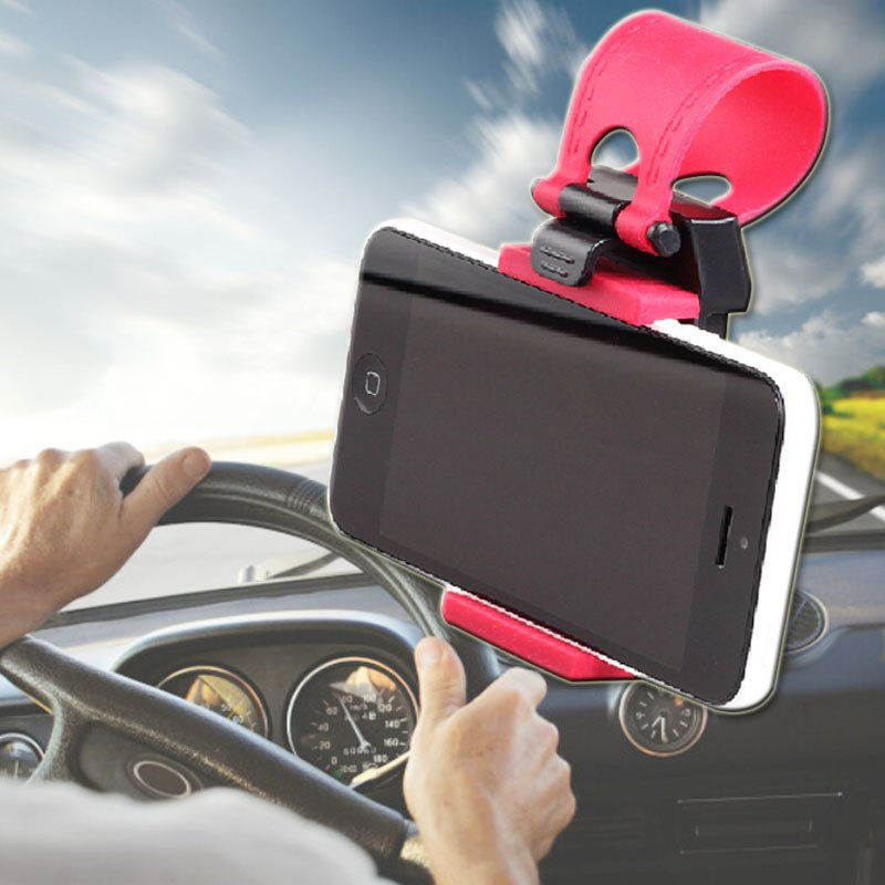 New Car Steering Wheel Mount Holder Rubber Band Cmp4 Phone Gps #F8 1952210673-1-